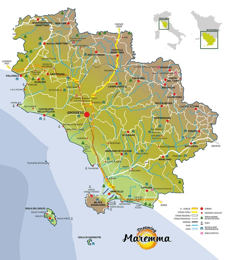 Mappa della Maremma
